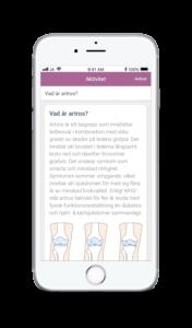Bild på Artrosskolans app